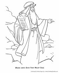 Bible Story Characters Coloring Page Sheets Moses And The Ten Bible Coloring Pages Moses