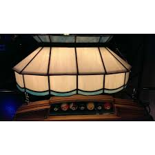 blue and white leaded glass pool table light kd game room supply