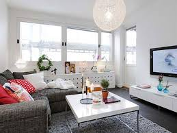Wall Mount Tv In Apartment Apartments Cool Media Room In Bright Linnestaden Apartment With