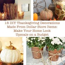 diy thanksgiving decorations made from dollar store items