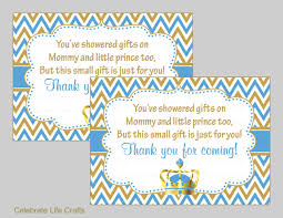 crown baby shower thank you favor tags printable baby shower