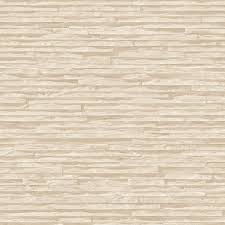 muriva bluff slate pattern stone brick cream vinyl wallpaper j27607