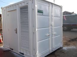 container conversion to house a generator