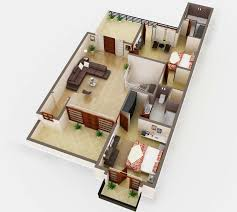 floor plan in 3d house 3d floor plan design with different views on behance