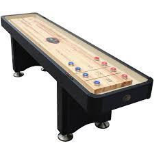 barrington 9 solid wood shuffleboard table playcraft woodbridge 9 shuffleboard table black walmart com