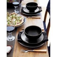 crate barrel jars tourron black dinner plate black dinner jar