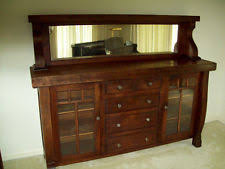Oak Hutch And Buffet by Mission Sideboard Ebay