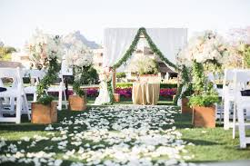 stylish floral spring arizona biltmore wedding outstanding occasions