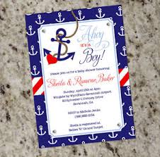anchor theme baby shower nautical theme baby shower invitations marialonghi