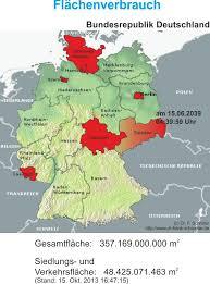 fl che deutschland aktueller stand der siedlungs und verkehrsfläche