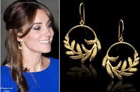 catherine zoraida earrings kate wore these catherine zoraida fern gold hoop earrings as she