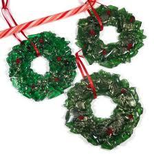green glass tree ornaments miniature green glass