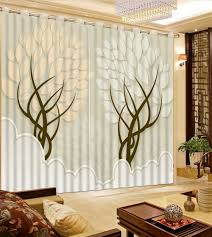 Drapes For Living Room Online Get Cheap Tree Curtains Aliexpress Com Alibaba Group