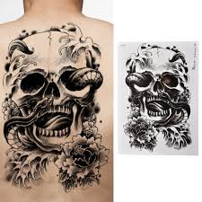skull tattoo price 6 49 u0026 free shipping tattoomachine