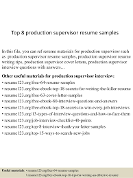 Oil And Gas Resume Template Top 8 Production Supervisor Resume Samples 1 638 Jpg Cb U003d1430028109