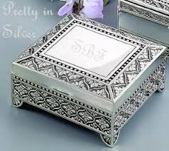 personalized photo jewelry box silver jewelry box with accenting engraved details