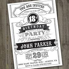 vintage retro birthday invitation printable chalkboard