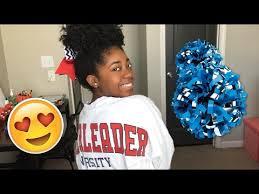 african american cheer hair bows cheerleading natural hair high puff hairstyle youtube