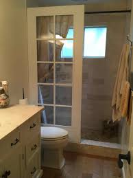 door walkin shower courtesy upcycled cottage bathroom shower ideas