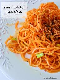 Raw On 10 A Day Or Less Raw Food Recipe Sweet Potato Noodles