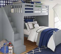 Catalina Bedroom Furniture Catalina Stair Loft Bed U0026 Lower Bed Set Pottery Barn Kids