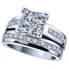 14k white gold 1 carat t w diamond engagement ring wedding