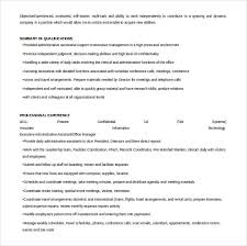 Executive Administrative Assistant Resume Examples by 11 Word Administrative Assistant Resume Templates Free Download