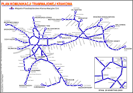 6 Train Map Krakow Metro And Light Rail Metros And Trams In Poland