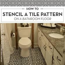 Diy Bathroom Flooring Ideas Beautiful Ideas Diy Bathroom Floor How To Stencil A Tile Pattern