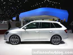 family car side view skoda fabia combi lmited edition side view at the 2015 geneva
