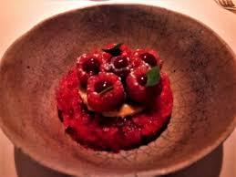 agastache cuisine concentré de framboises agastache sanglée photo de restaurant