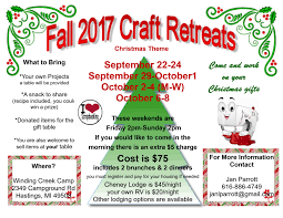 craft and quilting retreat winding creek camp
