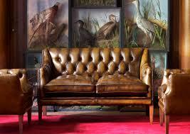 Benjamin Sofa Chesterfield Sofa Leather 2 Seater Brown Benjamin