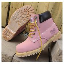 womens work boots safety steel toe work boots light pink