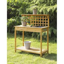 outdoor potting bench bench decoration
