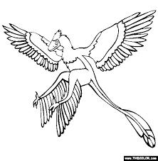 microraptor coloring free microraptor coloring