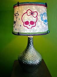 Monster High Bedroom Accessories by Monster High Embellished Drum Lamp Shade Custom By Ghoulsrule