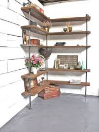 Industrial Shelving Unit by Our Originally Designed Industrial Pipe Corner Shelf Unit