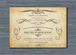 digital wedding invitations 26 vintage wedding invitation templates free sle exle