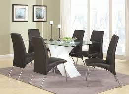 Dining Table Wood And Glass Ophelia White Wood And Glass Dining Table Set Steal A Sofa