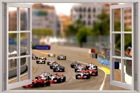 28 race track wall mural wall murals race track pixersize race track wall mural huge 3d window view formula 1 race cars wall sticker mural