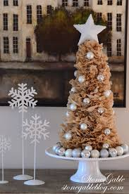 Homemade Christmas Tree by Coffee Filter Tree And Wreath Diy Stonegable