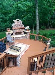 Build An Outdoor Fireplace by Outdoor Fireplace On Wood Deck Home Design Ideas