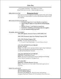 Restaurant Owner Job Description For Resume Sample Restaurant Resume Restaurant Manager Cover Letter Sample