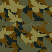 army pattern clothes military camouflage pigeons birds protective seamless pattern army