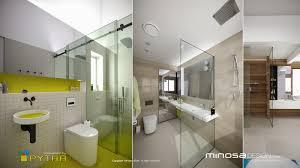 3d bathroom design minosa 3d rendering