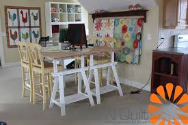 Quilting Cutting Table by Piece N Quilt Welcome Studio Make Over Reveal