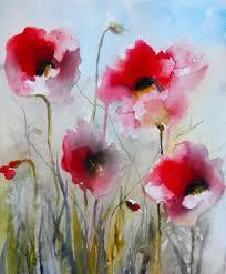 poppies karin johannesson contemporary watercolour