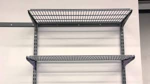 wall mounted metal shelves for garage wall shelves design strong