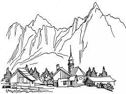 coloring pages for landscapes landscape coloring pages for adults az coloring pages landscape